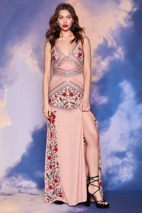 Nasty Gal Studio Ashley Beaded Dress