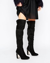 Oasis Metal Detail Knee High Boot
