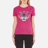 Kenzo Women's Printed Tiger On Cotton Single Jersey TShirt - Pink