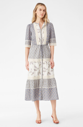 Rebecca Taylor La Vie Woodblock Lily Lace Dress