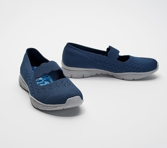 Skechers Flat-Knit Mary Janes - Seager Power Hitter