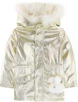 Yves Salomon Metallic parka with removable fur