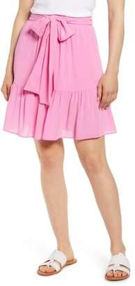 Gibson X Hi Sugarplum! Capri Tiered Tie Front Summer Skirt