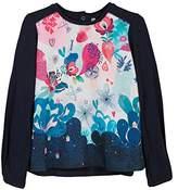 Catimini Girl's TS ML Maxi.Visu T-Shirt,(Manufacturer Size: 4A)