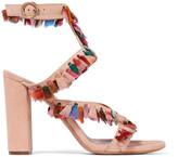 Chloé Tasseled Suede Sandals - Beige