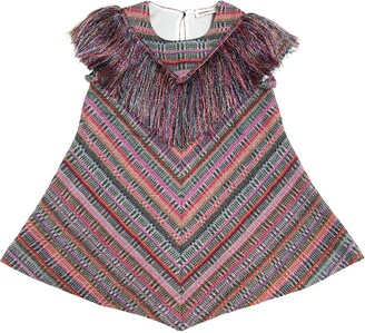 Missoni Fringed Lurex & Wool Blend Dress