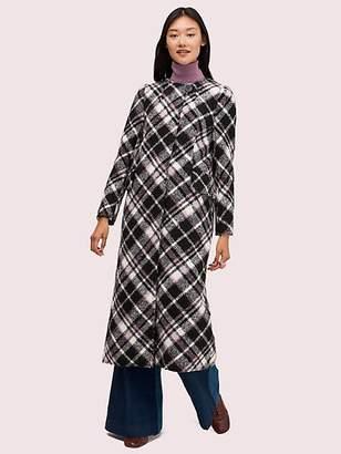 Kate Spade Plaid Boucle Coat