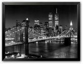 """Art.com New York, New York, Brooklyn Bridge"""" Framed Art Print by Henri Silberman"""