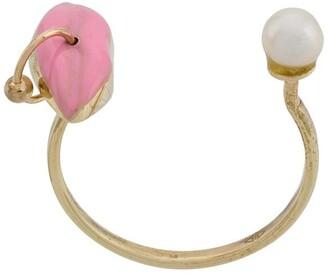 Delfina Delettrez 9kt yellow gold Lips Piercing ring