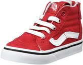 Vans T Sk8-Hi Zip (Inf/Tod) - (Varsity) Racing Red/True - 4 Infant