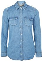 Topshop PETITE Fitted Western Shirt