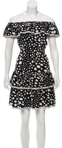 Marc Jacobs Silk Off-The-Shoulder Dress