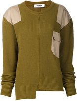 Marios asymmetric patch sweater