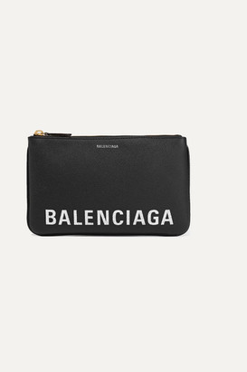 Balenciaga Ville Printed Textured-leather Pouch
