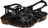 Aetrex Joy Sandalistas (Black) - Footwear