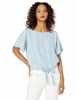 BB Dakota Womens Earn Your Stripes Indigo Tencel top