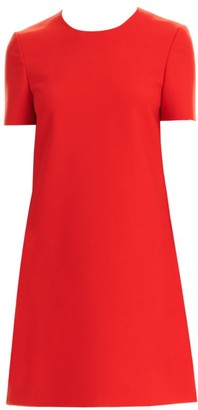 Carolina Herrera Short-Sleeve Shift Dress