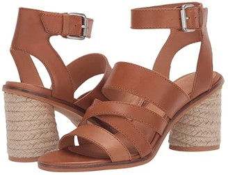 Frye Leiah Mixed Strap Sandal (Cognac Waxed Leather) Women's Shoes