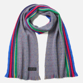 Paul Smith Men's PS Stripe End Scarf - Grey