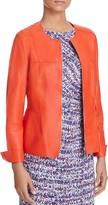 Basler Seamed Leather Jacket