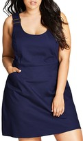 City Chic Overall Dress