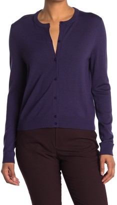 HUGO BOSS Fedania Button Front Wool Cardigan