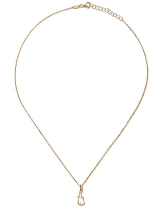 As 29 14kt yellow gold diamond Guitar necklace