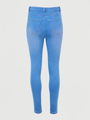 Very Addison Super High Waisted Super Skinny Jean - Bright Blue