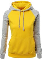 CeRui Women Basic Solid Comfortable Pullover Hoodie Raglan Sweatshirt Size L