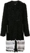 Oscar de la Renta reversible coat - women - Mink Fur/Lamb Fur - 8