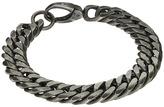 Steve Madden Burnished Stainless Steel 8 Double Curb Chain Bracelet Bracelet