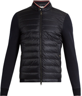 Moncler Maglia cotton-jersey and nylon down jacket