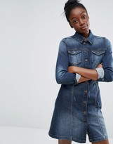 Only Button Front Denim Dress