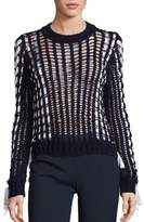 Alberta Ferretti Long Sleeve Knit Sweater