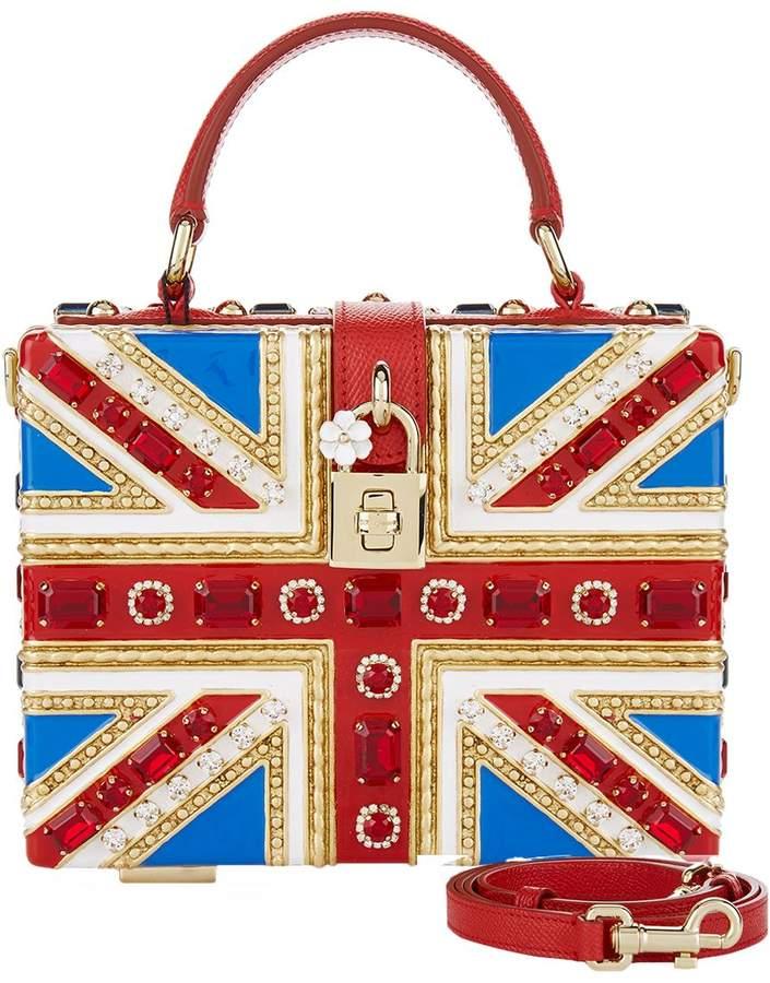 Dolce & Gabbana Embellished Union Jack Box Bag
