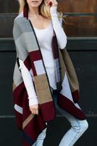 Leto Multi Color Poncho