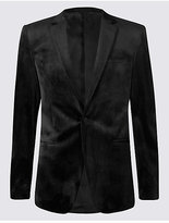 M&S Collection Single Breasted Velvet Jacket