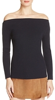 Theory Sandora Off-the-Shoulder Ribbed Sweater