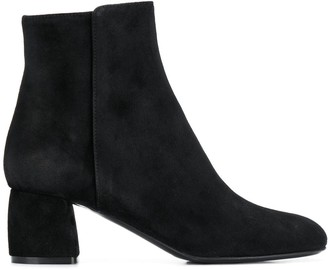 AGL Block Heel Ankle Boots