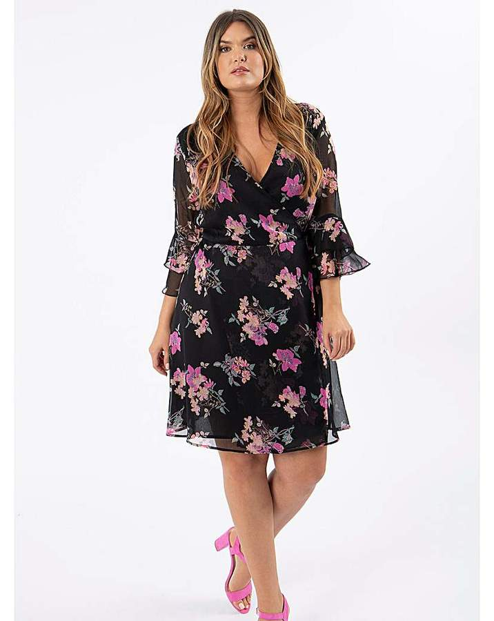Koko Floral Print Wrap Dress