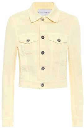Matthew Adams Dolan Cropped denim jacket