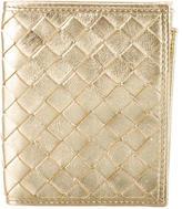 Bottega Veneta Metallic Intrecciato Wallet