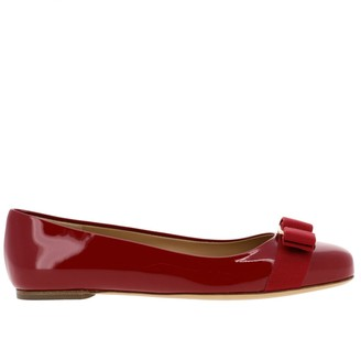 Salvatore Ferragamo Varina Ballet Flats In Patent Leather