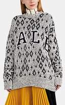 "CALVIN KLEIN 205W39NYC Women's ""Yale"" Cotton-Blend Oversized Sweater - Gray"