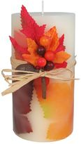 "Celebrate Fall Together Harvest Applewood 3"" x 6"" Pillar Candle"
