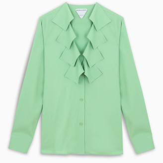 Bottega Veneta Pistachio green fringed shirt