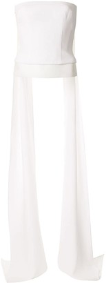 Alex Perry Arden draped-back top