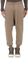 Rick Owens Men's Cotton Fleece Prisoner Sweatpants-GREY