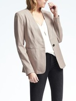 Banana Republic Heritage Leather Blazer