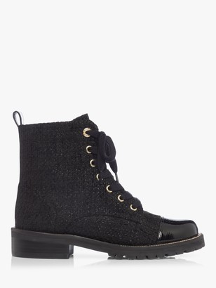 Dune Pryor Fabric Ankle Boots, Black
